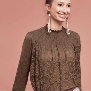 COPY Deletta amanna lace smocked top Anthropologie